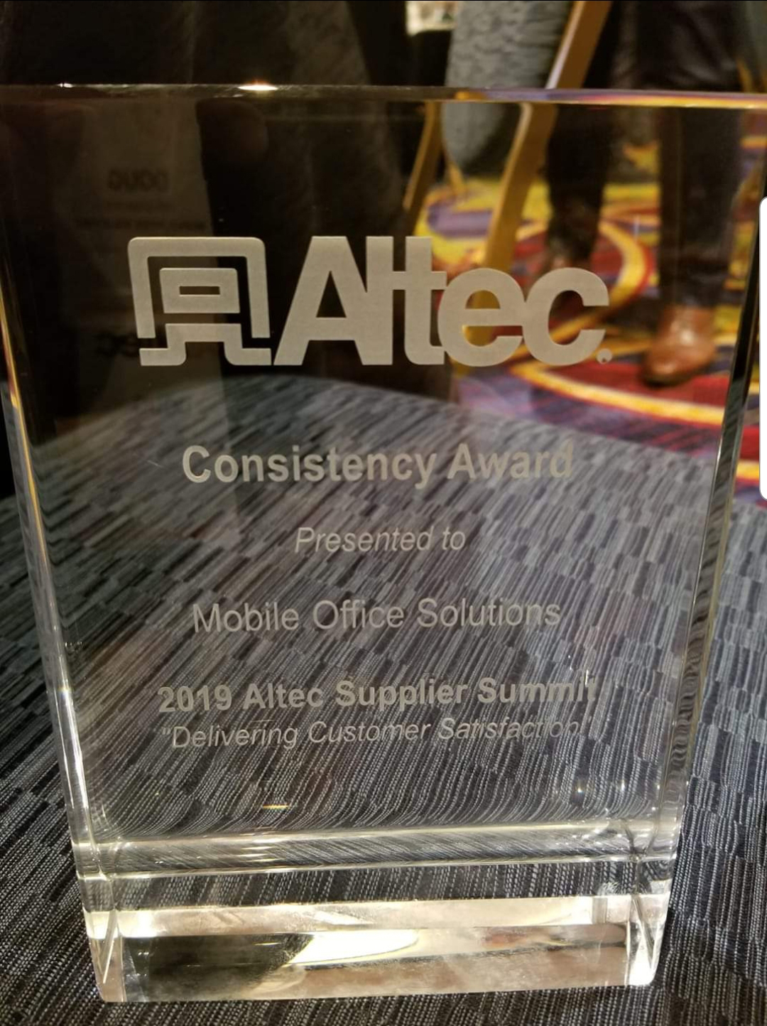 Mobile Desk Wins Altec Consistency Award