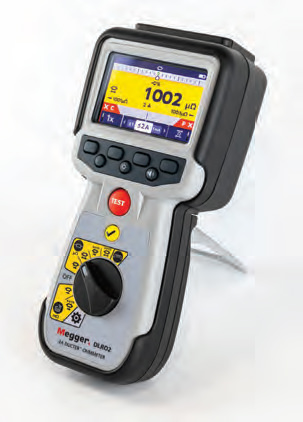 Low Resistance Ohmmeter from Megger Delivers Reliable Results with Long Test Leads
