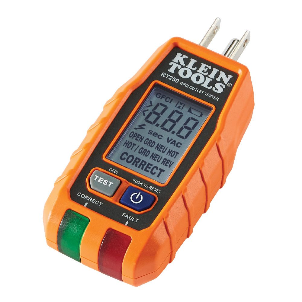 Klein Tools® Launches GFCI Receptacle Tester with LCD