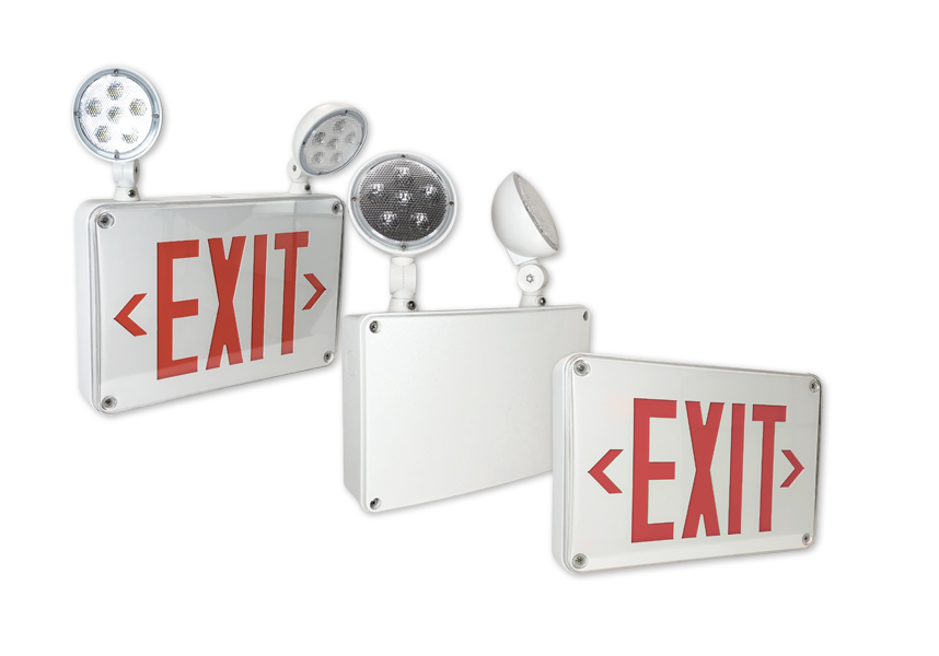 Nora Lighting Wet Location Emergency & Exit Fixtures Feature Battery Backup & Self Diagnostics